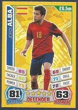 TOPPS MATCH ATTAX  BRAZIL 2014 WORLD CUP- #208-SPAIN & BARCELONA-JORDI ALBA