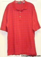 Lyle & Scott 100% Mercerized Cotton Mens Red Short Sleeve Polo Shirt Large L