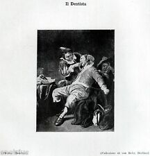IL DENTISTA, di Anonimo Olandese. Odontoiatria. Dentiste. Dentist. Zahnarzt.1929