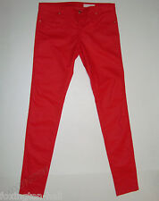 "BNWT:SASS&BIDE WAXY RED SUPER SKINNY FIT JEANS 32 ""SKINNY BOY"" PLAYMAN"