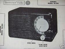 SONORA YB-299 RADIO PHOTOFACT
