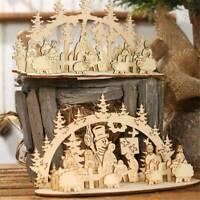 Marry Christmas Wooden Santa Claus Ornaments Xmas Home Pendant Table Home Decor