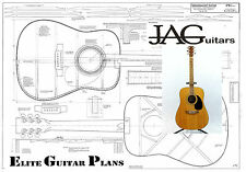 Project Plan/Drawing to build this Dreadnougt Acoustic guitar  Ideal Gift P067