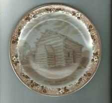 Staffordshire Ware  Plate Abe Lincoln Birthplace Nancy Lincoln Inn Kentucky