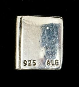 PANDORA 925 ALE Sterling Silver Christian Bible Charm Bead 790261 - Retired