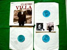 CLAUDIO VILLA 40 CELEBRI CANZONI in cofanetto 3 dischi 33 GIRI