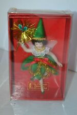 Christmas Ornament Porcelain Fairy Doll Collectors Club in Box #9