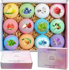 Bath Bombs Gift Set Handmade Bubble Bath Bomb with Essential Oil Shea Butter