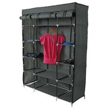 "Portable Closet Wardrobe Clothes Rack Storage Organizer With Shelf 53"" US"