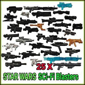 Custom Sci-Fi Star Wars Blaster Weapons (×25 Random Guns Mix) fits Lego®