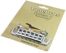 TonePros AVT2M Wraparound Bridge/Tailpiece with Locking Studs for PRS SE, Chrome