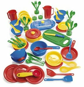 KIDS CHILDRENS PLAY SUPPER DINNER SET by DANTOY 63 pieces by DANTOY dinner set