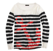 NWT $248 J Crew Collection Featherweight 100% Cashmere Anchor Sweater; S