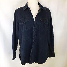 Madewell M Blue Denim Jean Shirt 100% Cotton