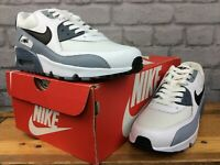 NIKE UK 5 EU 38 AIR MAX 90 ESSENTIAL WHITE GREY TRAINERS RRP£100 CHILDRENS LG