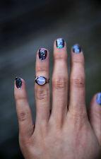 Hippie Boho Bohemio étnico hippy Piedras Preciosas Cristal De Cuarzo Amatista Anillo de chakra