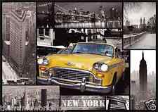 NEW YORK TAXI CAR AND SIGHTS MONTAGE - 3D PICTURE 300mm X 400mm (NEW)