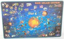 2019 Dino Kalogjera Illustrated Our Solar System Plastic Laminated Place Mat
