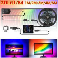 DC 5V DIY RGB USB LED Strip Streifen Für TV PC Hintergrund-Beleuchtung