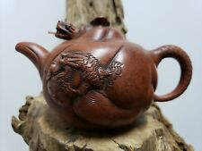 Old Chinese Hand Carved  Purple Clay Teapot (Dragon)