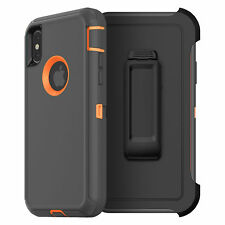 iPhone X 10 Case with Screen Protector & Belt Clip Fits Otterbox DEFENDER SERIES