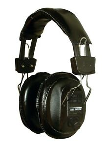 METAL DETECTOR HEADPHONES WITH COILED LEAD AND VOLUME CONTROL