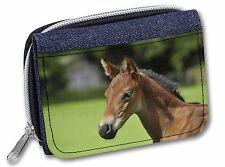Pretty Foal Horse Girls/Ladies Denim Purse Wallet Christmas Gift Idea, AH-10JW
