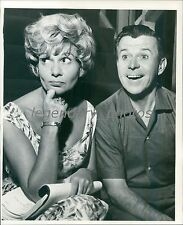 1961 Radio Star Dennis Day with Female Colleague Original News Service Photo