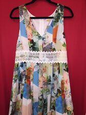 NWT ANTHROPOLOGIE By LEIFSDOTTIR Patchwork Petals Dress Size 14
