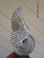 rare vintage flying tire ratrod hotrod car hood ornament