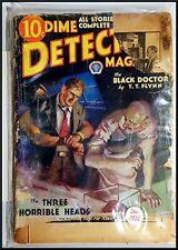 Pulp Magazine: DIME DETECTIVE December 1932. Flynn, Nebel, Gardner stories. poor
