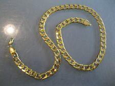 "10MM Men's Gold finish CUBAN LINK Necklace Chain 24"" long"