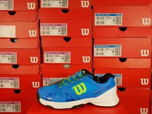 Wilson Rush Pro QL Blue and Green Junior Tennis Shoes Multiple Sizes
