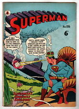 Australian SUPERMAN 106 DC Comics 1950's UK