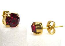 SoHo® Ohrstecker Stecker Kristalle ss29 crystal gold siam rot vergoldet Strass