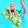 "Inflatable Crocodile Croc Swimming Pool Rider Ride On Kids Float 69"" x 40""  4109"