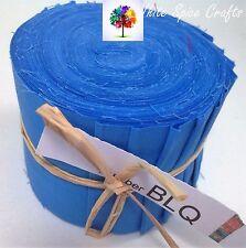 "20 pcs (2.5""x 45"")  Blue Jelly Roll binding/edging BLQ FREE POST AU"