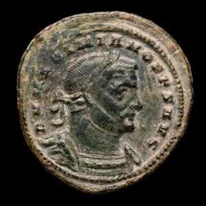*Lucernae* Maximianus (Senior) Follis GENIO POP ROM. PLN Londinum 307-308 A.D.