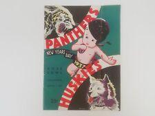 1937 Rose Bowl Program Pittsburgh Panthers & Washington Huskies Jan 1st, 1937