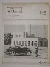 July 1964 A Quail Call Penn-Ohio Ford Model A Inc. Club Magazine