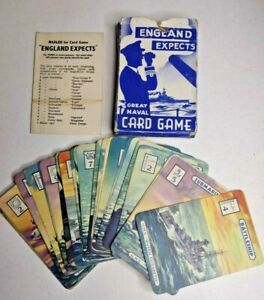 WW2 1940 ENGLAND EXPECTS The Great Naval Card Game - Vintage Boxed Instructions
