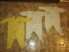 Gerber Green & Yellow Frog Sleepers Size 0-3 Months