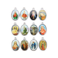 20 Pcs Holy Catholic Religious Faith Crosses Enamel Medals Charms Pendants 25mm