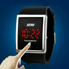 SKMEI LED Men's Sports Big Dial Silicone Watch Touch Digital Wristwatch Gift US