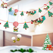 1Pc Christmas Hanging Santa Claus Banner Ornament Xmas Party Decoration