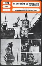 FICHE CINEMA : LA CROISIERE DU NAVIGATOR - Buster Keaton 1924 - The Navigator