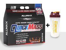 Allmax Nutrition Quick Mass 12lb STRAWBERRY BANA  FREE MASS SHAKER SAME DAY SHIP