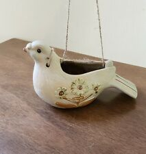 VTG Hanging Dove Bird pottery Planter Pot Rustic Farmhouse Decor