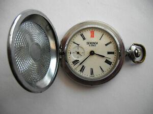 Vintage pocket Watch MOLNIJA BIRD SEKONDA, SOVIET/USSR, RUSSIA