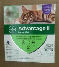 GENUINE BAYER ADVANTAGE II FLEA CONTROL FOR CATS OVER 9 LBS - NEW 2 PACK